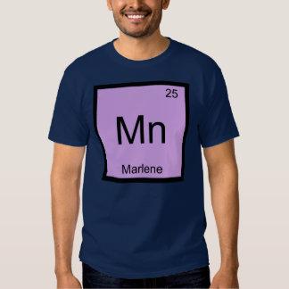 Marlene Name Chemistry Element Periodic Table Tee Shirt