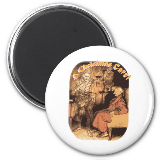 Marley and Scrooge 2 Inch Round Magnet