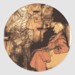 Marley and Scrooge Classic Round Sticker