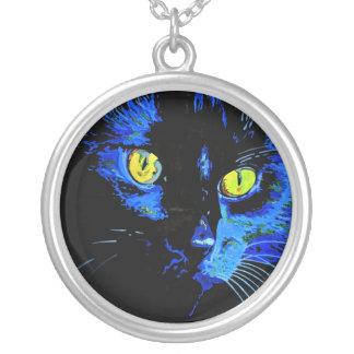 Marley At Midnight Round Pendant Necklace