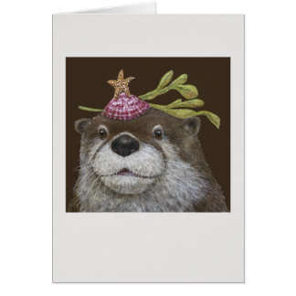 Marley the otter card