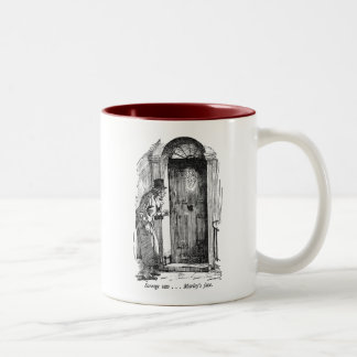 Marley's Face (with text) Two-Tone Coffee Mug