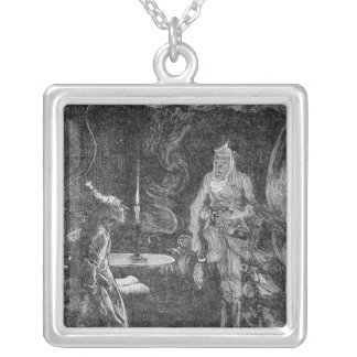 Marley's Ghost Square Pendant Necklace