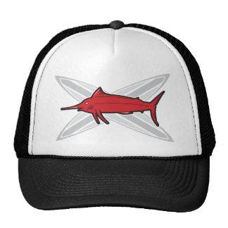 Marlin and Surfboards Trucker Hats