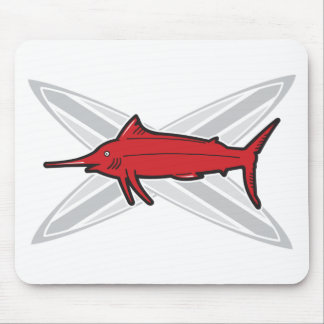 Marlin and Surfboards Mouse Pad