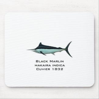 marlin-black, Black Marlinmakaira indica Cuvier... Mouse Pad