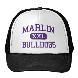 Marlin - Bulldogs - High School - Marlin Texas Mesh Hats