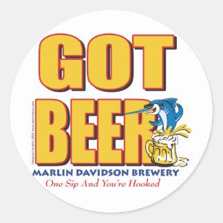Marlin Davidsons Brewery - Got Beer Classic Round Sticker