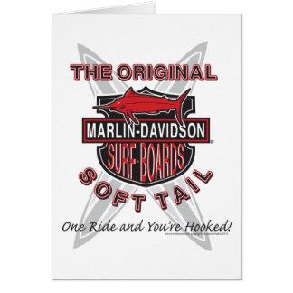 Marlin Davidsons Surf Boards Greeting Cards