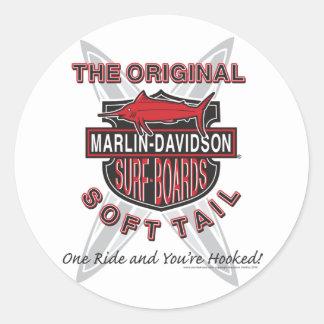 Marlin Davidsons Surf Boards Classic Round Sticker