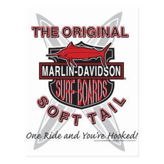 Marlin Davidsons Surf Boards Post Cards