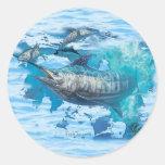 Marlin Feeding Time Round Stickers