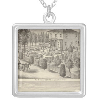 Marlin, Finigan residences, farms Silver Plated Necklace