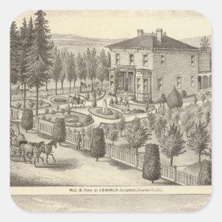 Marlin, Finigan residences, farms Square Sticker