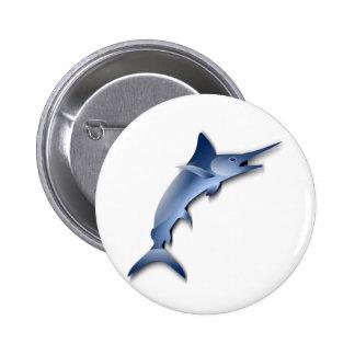 Marlin Fish Pinback Buttons