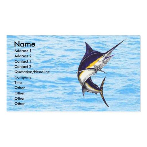 Marlin Fisherman Card Business Cards