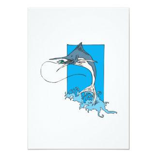Marlin Fishing 5x7 Paper Invitation Card