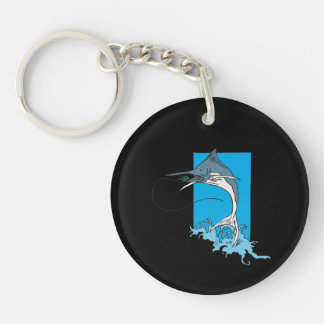 Marlin Fishing Keychain