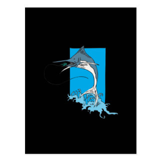 Marlin Fishing Postcard