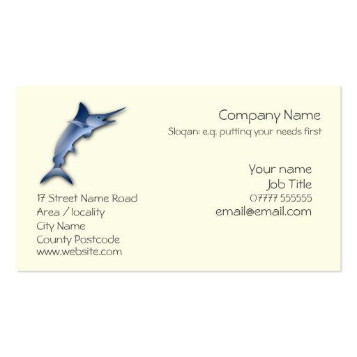 marlin generic business card template zazzle