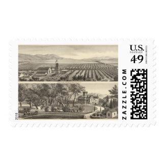Marlin, Hathaway residences, farms Stamps