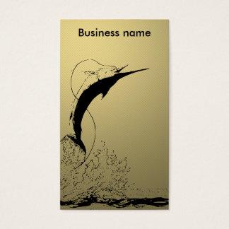 Marlin jumping business card