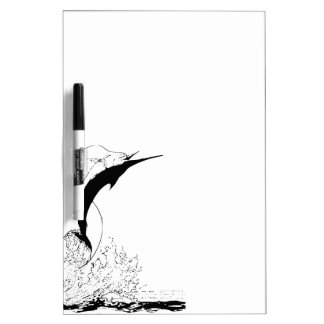 Marlin jumping dry erase board