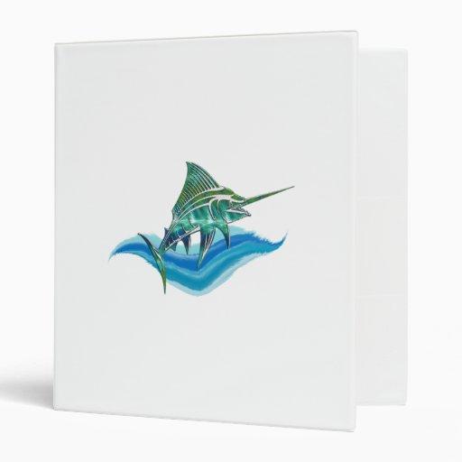 Marlin Jumping From Ocean 3 Ring Binder