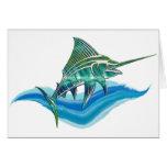 Marlin Jumping From Ocean Card