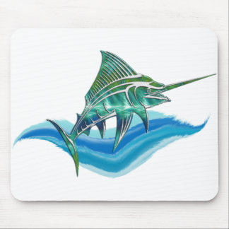Marlin Jumping From Ocean Mouse Pad