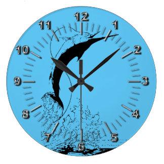 Marlin jumping large clock