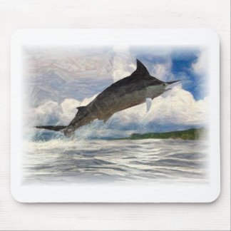 marlin painted mouse pad