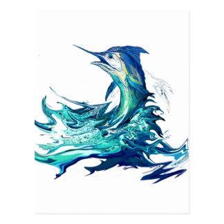 Marlin Sport Fishing Postcard