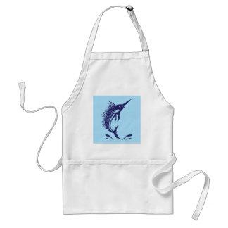 Marlin Sword Fish Adult Apron