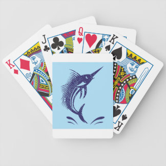 Marlin Sword Fish Bicycle Playing Cards
