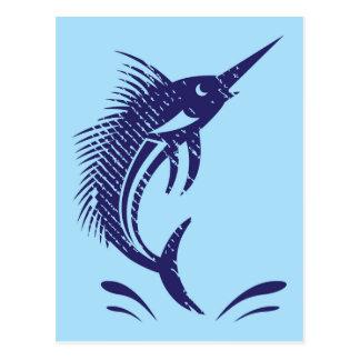 Marlin Sword Fish Postcard