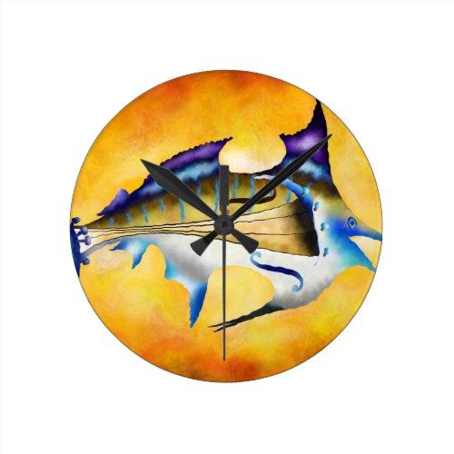 Violinfish Round Clock