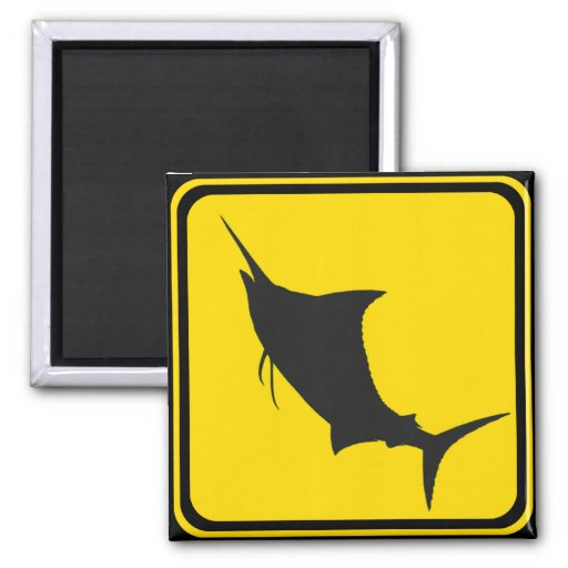 Marlins Ahead! 2 Inch Square Magnet