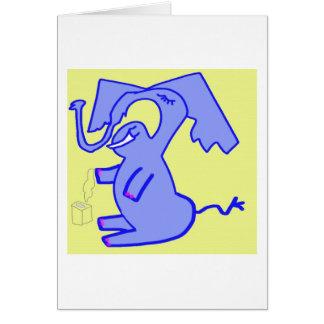Marlise y su frío tarjeta de felicitación