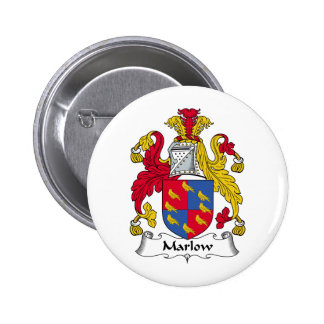 Marlow Family Crest 2 Inch Round Button