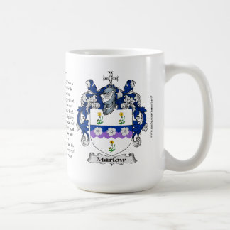 Marlow, the Origin, the Meaning and the Crest Coffee Mug