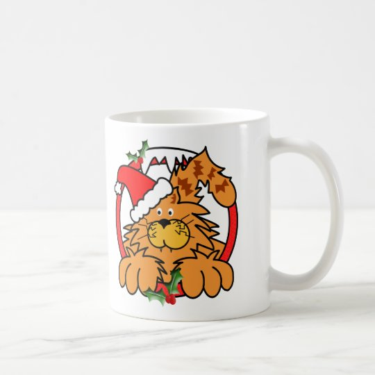 Marmalade Cat at Christmas Coffee Mug