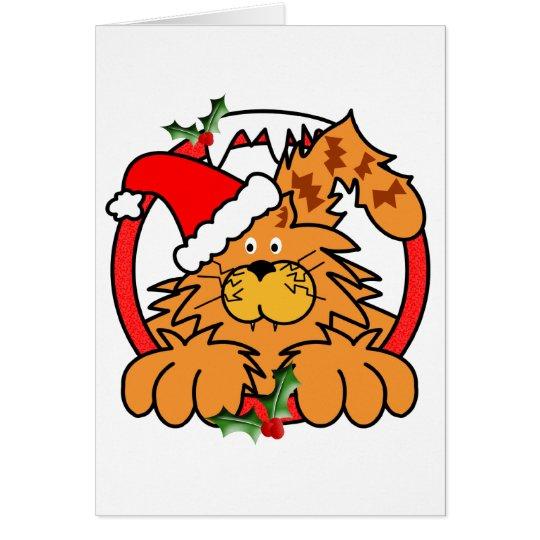 Marmalade Cat at Christmas - Customized Card