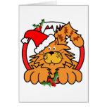 Marmalade Cat at Christmas Greeting Cards