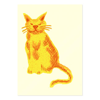 Marmalade cat large business card