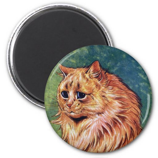 Marmalade Cat with Blue Eyes 2 Inch Round Magnet