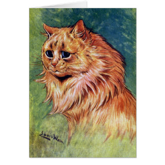 Marmalade Cat with Blue Eyes Greeting Card