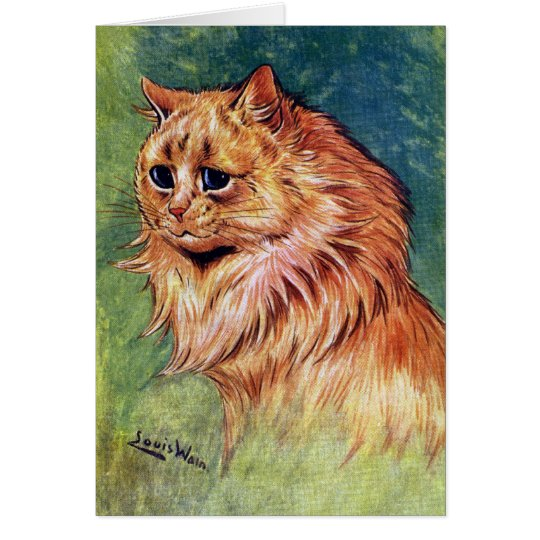 Marmalade Cat with Blue Eyes Card