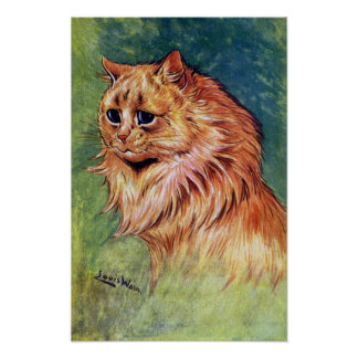 Marmalade Cat with Blue Eyes Poster