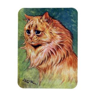 Marmalade Cat with Blue Eyes Rectangular Photo Magnet
